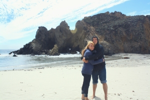 John and I at Pfeiffer Beach, Big Sur.