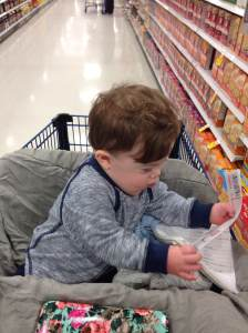 I didn't nap for long, because we had to get this shopping done! I took it upon myself to keep the coupons and grocery list in order.