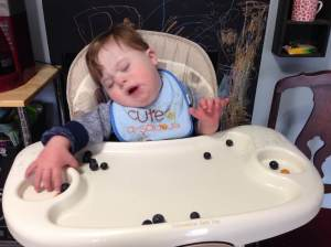 But oh no! Now my blueberries are rolling everywhere and I don't like it!
